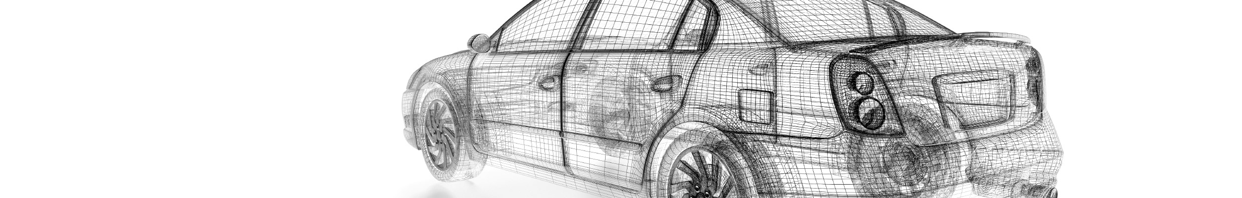 Wireframe Diagram of Car Dhell